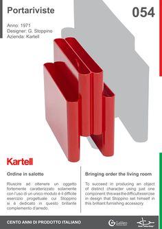 Portariviste by Giotto Stoppino for Kartell (1971) #rack #plastic #design #living