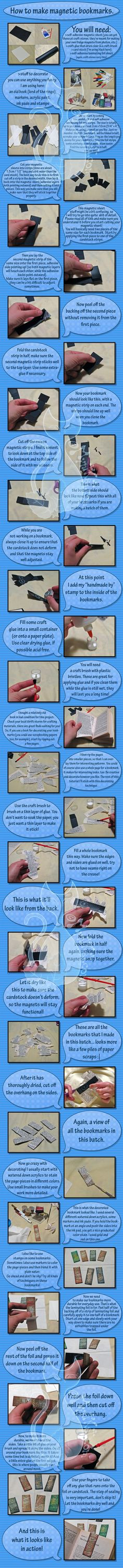 How to make magnetic bookmarks by MyntKat.deviantart.com