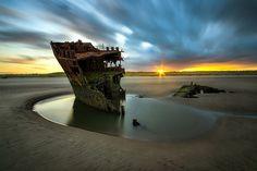 Baltray ship wreck, Ireland by Rafal Rozalski Abandoned Ships, Abandoned Places, Top Photos, Cap Vert, Shipwreck, World Best Photos, Ireland Travel, Belle Photo, Nature Photos