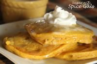Pumpkin Pancakes.  I actually only made the syrup.  But I'm sure the pancakes are great too.
