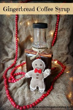 Gingerbread Syrup Recipe DIY Gift Idea Teacher's Gift Homemade Gifts