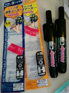 Fun Fat markers. Made in Japan too. Make your point.