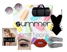 """Summer: Hornet Naraok"" by the-baguette on Polyvore featuring beauty, Monki, Agent Provocateur, Havaianas, The North Face and Lime Crime"