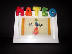 Marco de fotos co nombre en fieltro: Mateo by ChikiPol