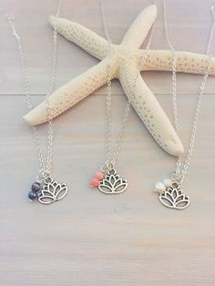 Lotus Flower Necklace  Sliver Lotus Necklace  Yoga by LaniMakana
