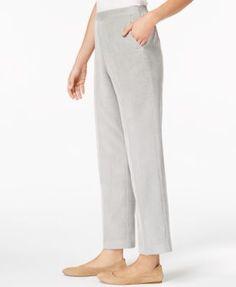 e7020785587 Alfred Dunner Eskimo Kiss Petite Pull-On Corduroy Pants   Reviews - Pants    Capris - Petites - Macy s