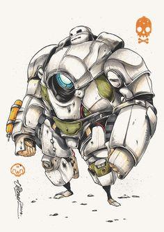 Iron Man Looks Badass In Samurai Mech Armor Arte Robot, Robot Art, Croquis Robot, Comic Character, Character Concept, Robot Sketch, Badass, Iron Man Art, Samurai Armor