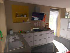 Nobilia Winkelküche mit Raumteiler Speed Premiumweiß