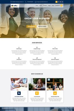 Reflex - Corporate Business and Agency PSD Template, Website Design Layout, Website Design Inspiration, Web Layout, Photoshop Celebrities, Webdesign Layouts, Webdesign Inspiration, Best Web Design, Ui Design, Graphic Design