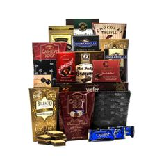 Ghirardelli Gift Baskets - Gifts And Gift Baskets For All Occasions Chocolate Treats, Chocolate Truffles, Delicious Chocolate, Gourmet Gift Baskets, Gourmet Gifts, Fathers Day Baskets, Champagne Gift Baskets, Best Of Wishes, Caramel Bars