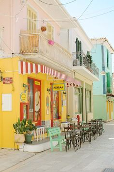 Greece photography Street Greece wall art Greek Island Lefkada Cafe print Bar Fresh color print Greece photo Europe photo Yellow print More from my sitebutton crafts projects Retro Aesthetic, Aesthetic Photo, Aesthetic Pictures, Greece Photography, Nature Photography, Photography Shop, Photo Wall Collage, Picture Wall, Myconos