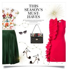 """""""It's Time to Treat Yo'Self!"""" by sophiek82 ❤ liked on Polyvore featuring Aquazzura, MSGM, Gucci, Maison Scotch, RED Valentino and H&M"""
