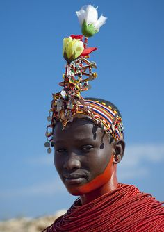 Samburu young girl ready to be married - Kenya