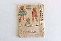 McCall 878 Sz 1 chest 20 1940s Toddler Girls