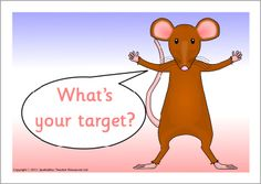 Mouse-themed target sheets (SB3281) - SparkleBox