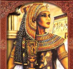 I especially love this image of Isis because she is more African in features than many of the images I've seen.