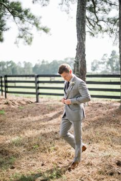 Athens Wedding from Harwell Photography + It Takes Two Events Wedding Men, Wedding Suits, Wedding Styles, Wedding Groom, Wedding Attire, Wedding Dresses, Grey Suit Brown Shoes, Gray Tux, Light Grey Suits