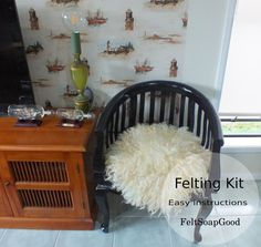 Flokati layer KIT curly basket staffer making set by FeltSoapGood