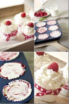 Himbeere Cheesecake-Cupcake