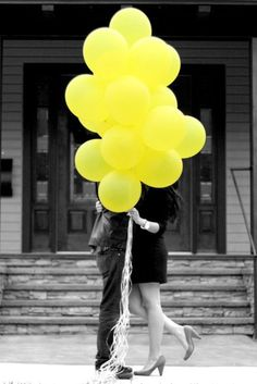 I love black and white photos with a splash of color.