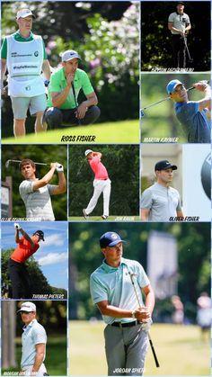 European and PGA golfers