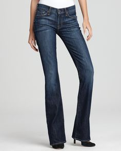 7 For All Mankind petite bootcut jeans in Nouveau New York dark