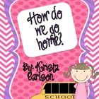 """This pack includes labels and instructions for how to create a """"How do we go home?"""" ribbon clip chart for your classroom. All labels come in Englis..."""