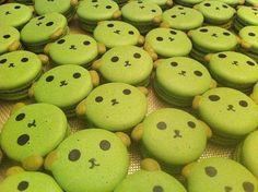 Mameshiba super kawaii food! Pistachio french macaron.