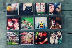 your instagram photos on a 4x4 in wooden block by aptrick on Etsy, $135.00