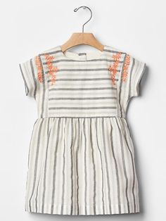 Embroidered stripe dress Product Image