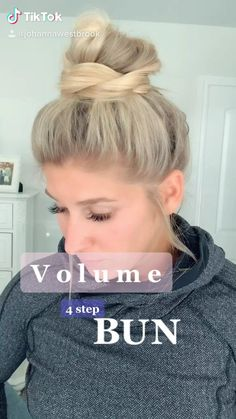 Bun Hairstyles For Long Hair, Pretty Hairstyles, Girl Hairstyles, Quick Work Hairstyles, Running Late Hairstyles, Ponytail Hairstyles Tutorial, Wand Hairstyles, Ponytail Tutorial, Curling Iron Hairstyles