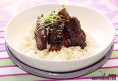 Costillas de cerdo ibérico con salsa de soja dulce