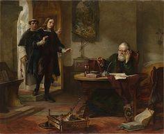 John Milton visitando a Galileo, de Solomon Hart(1847). | Matemolivares