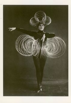 This serious creature is a performer in a Bauhaus ballet circa 1926 - 1927 called The Triadic Ballet.
