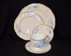 Wedgwood Ashbury Set of Plates, Saucers and Cup; Vintage by MaltKilnCottage on Etsy