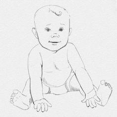 Поэтапный урок рисования ребенка карандашом - Что может быть прекраснее, чем дети. Чтобы нарисовать ребенка необходимо соблюсти все пропорции, ведь строение тела малыша несколько отличается от взрослого. Наверное, многие из вас подумают, что рисовать детей очен