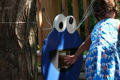 Cookie Monster Cookie Toss for Sesame Street Birthday Party