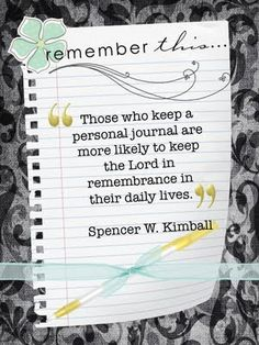 Great quote for a journal... I need to be better at writing in my journal - so true!