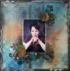 "LO made at Finnabair's workshop ""Pretty in Grunge"" in Scraptastic. #Scrapbooking #PrettyInGrunge #Scraptastic2013"
