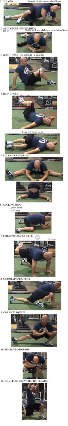 """Joe DeFranco's """"Limber 11"""" with photos. Excellent mobility routine."""