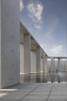 Wall-corridor and water courtyard. Image © Yao Li, Sui Sicong