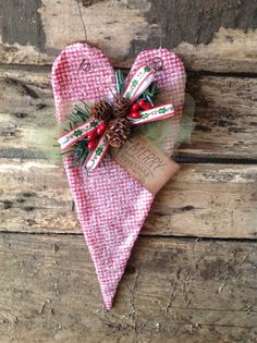 OOAK Merry Christmas Holiday Heart