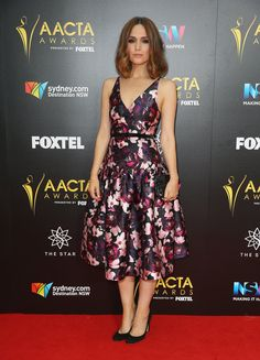Rose Byrne carrying our new Rose Limited Edition Box Clutch in Black