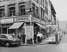 The corner of Frith Street, Soho, London, circa 1955. (Photo by Popperfoto/Getty Images)