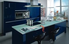 stormer kuchen blue kitchen decor