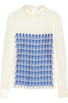 Zahra silk-jacquard top | Temperley London - Love It!