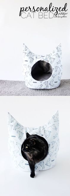 """DIY Cat Bed Sewing Pattern with Personalized Fabric from <a href=""""/joannstores/"""" title=""""Jo-Ann Fabric and Craft Stores"""">@Jo-Ann Fabric and Craft Stores</a>   See Kate Sew:"""