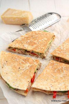 Quesadilla met tonijn en gegrilde groenten - Mind Your Feed