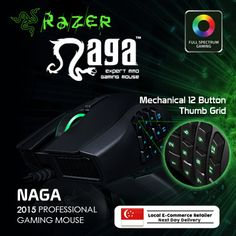 [S$69.00]Original Razer Naga 2014 Professional Gaming Mouse Mice Local Stock Pointer