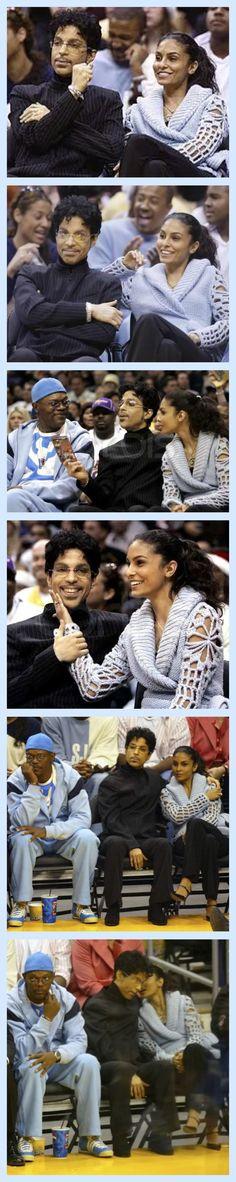 Prince and Manuela courtside